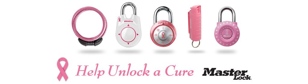 Pink Ribbon - Help Unlock a Cure - Master Lock